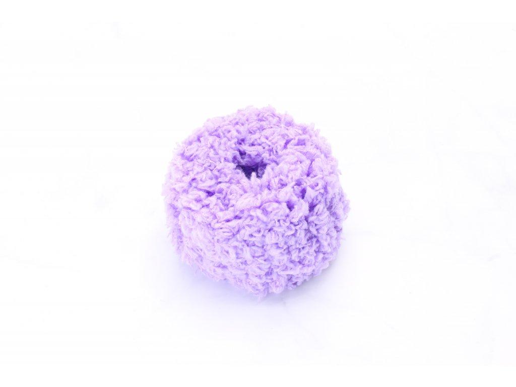 Mäkká fialová gumička