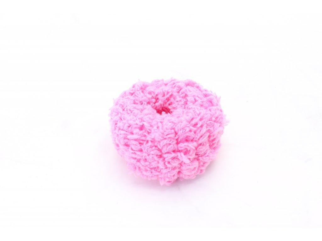 Ružová mäkká gumička