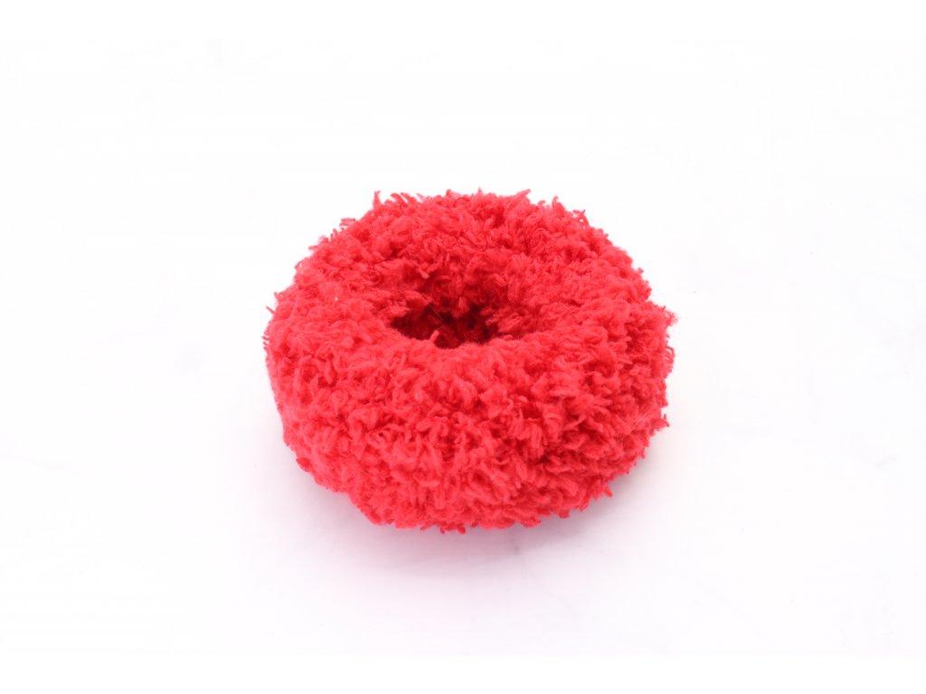 Červená mäkká gumička väčšia