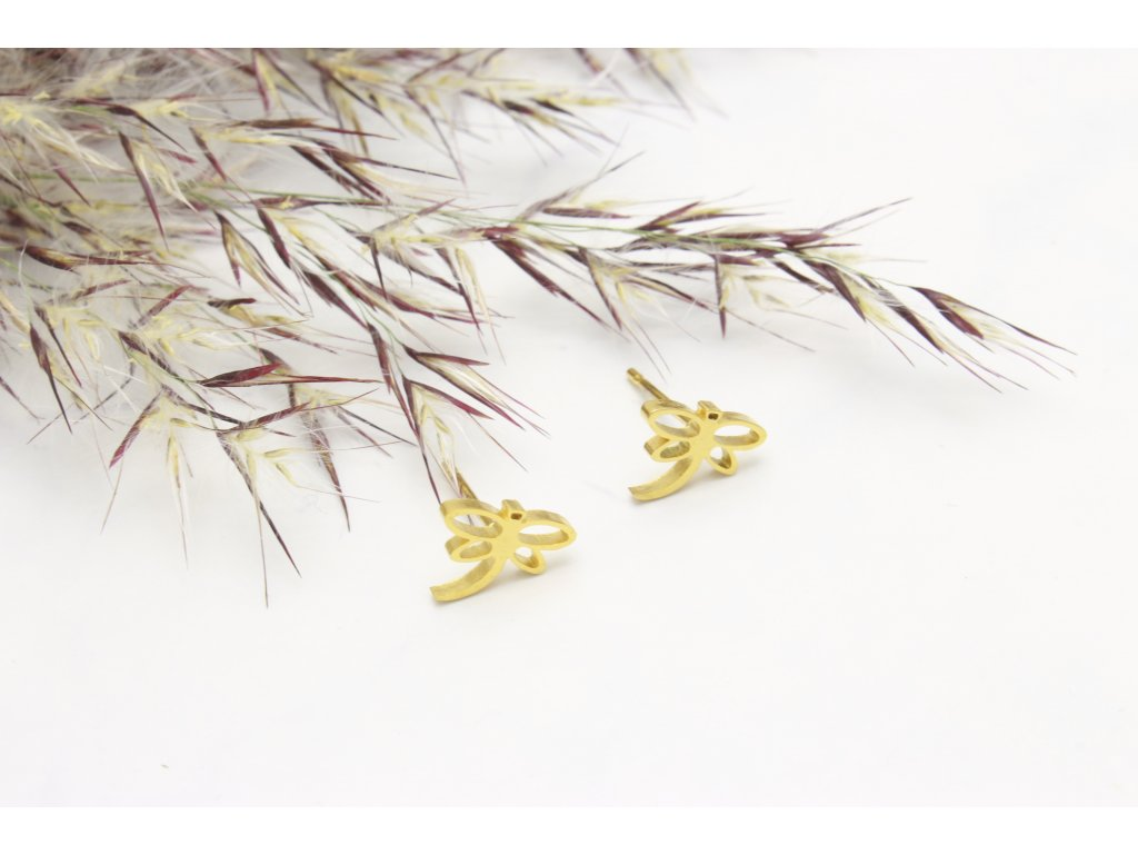 Náušnice z chirurgickej ocele Vážky