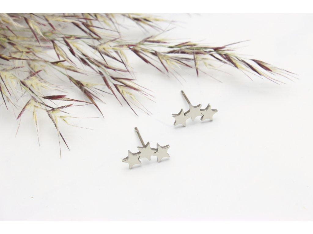 Náušnice z chirurgickej ocele Stars