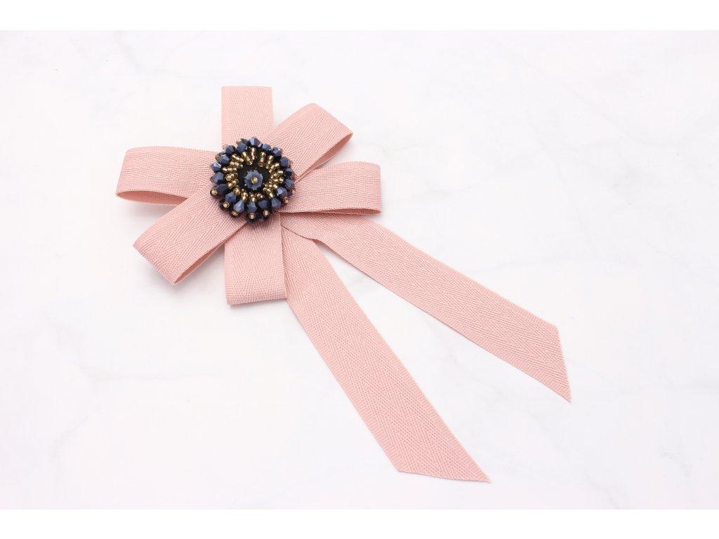 Brošňa ružová mašľa