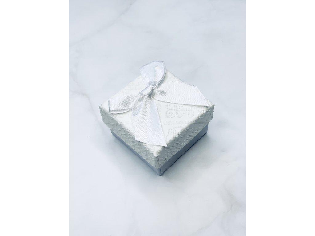 Darčeková krabička malá s bielou mašľou