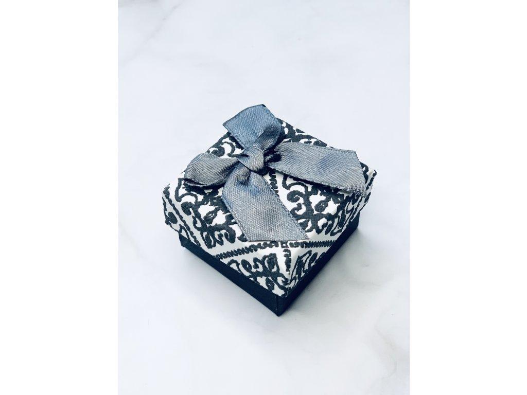 Darčeková krabička malá  so  sivou mašľou