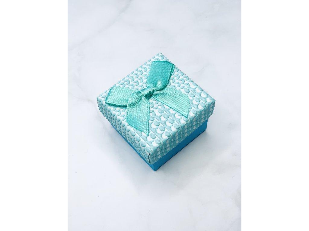 Darčeková krabička malá s tyrkysovou mašľou