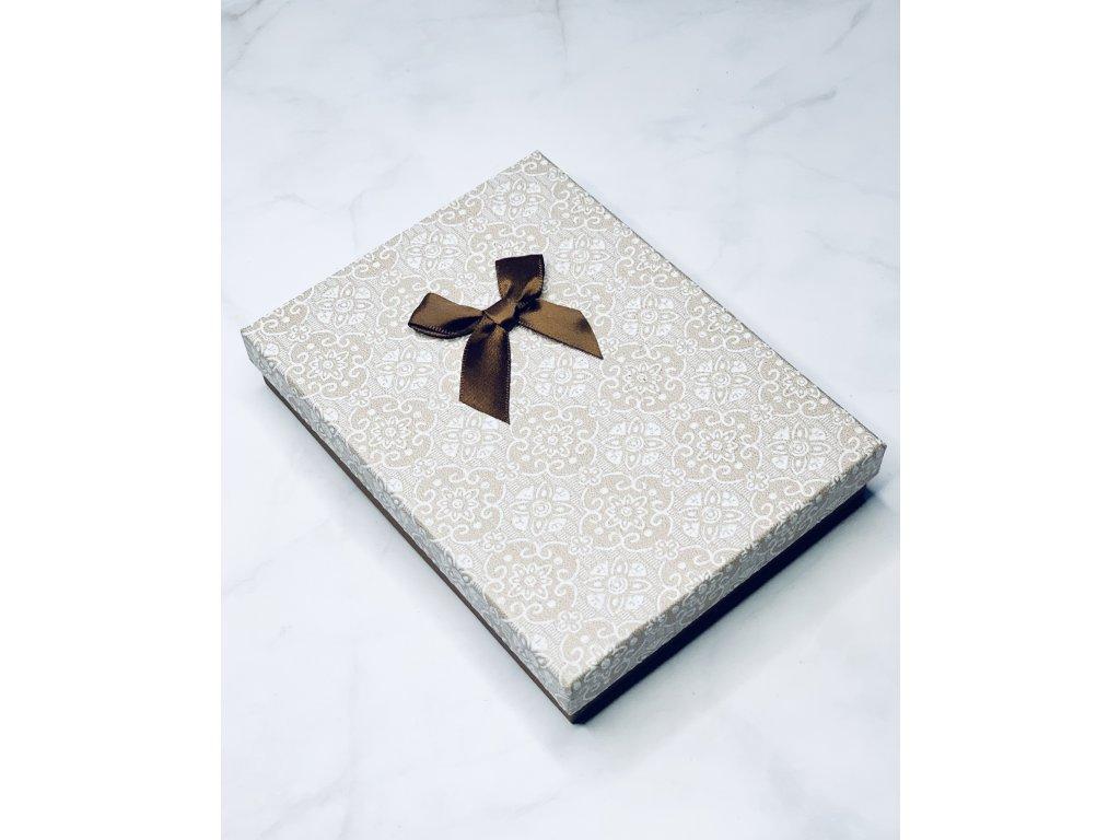 Darčeková krabička veľká s hnedou mašľou