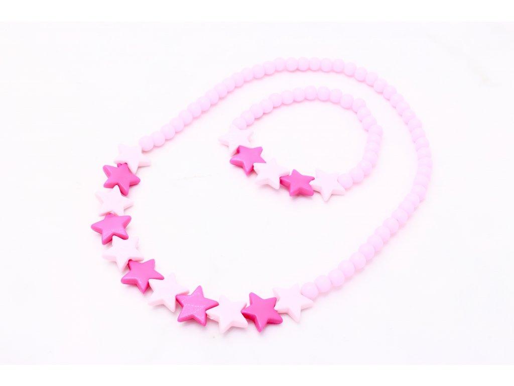 Detský náhrdelník s náramkom hviezdičky