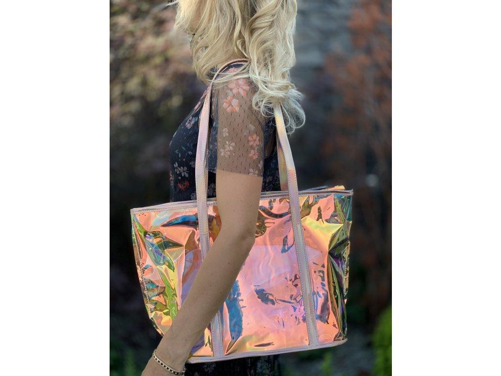 Holografická letná kabelka