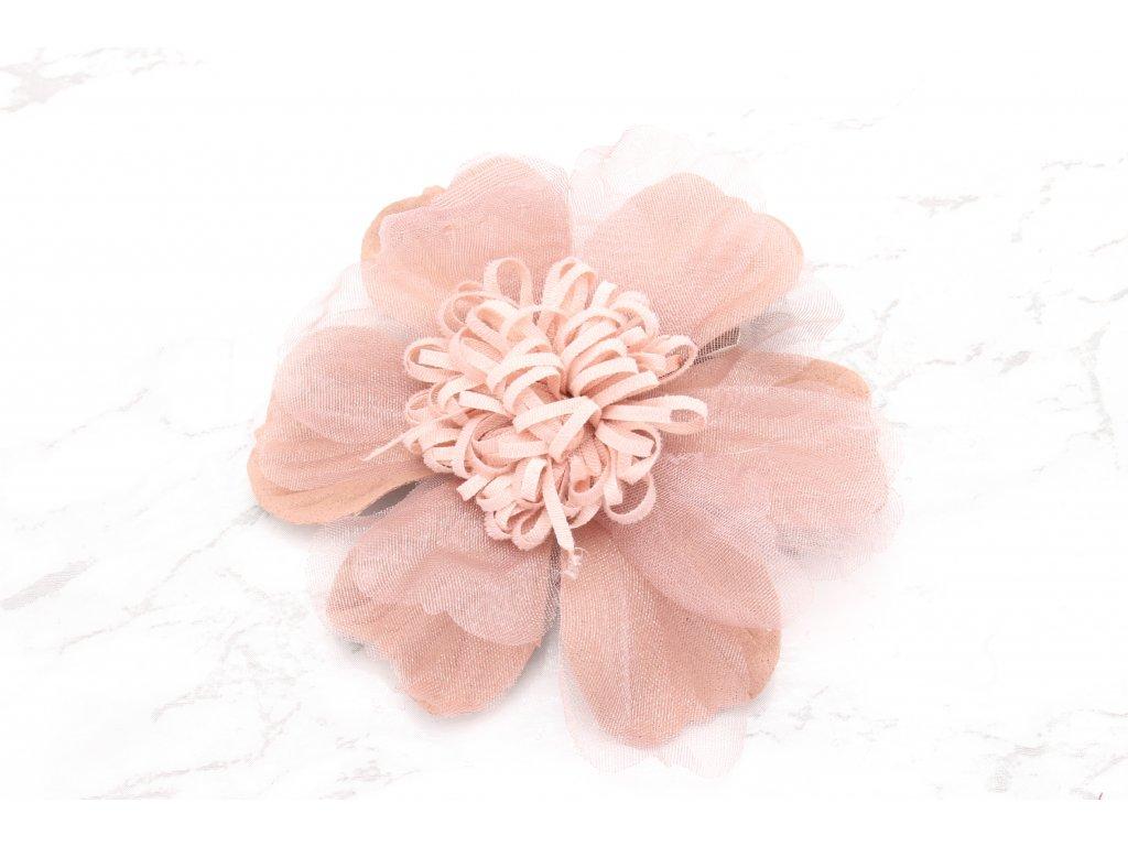 Krásny kvet staroružovej farby