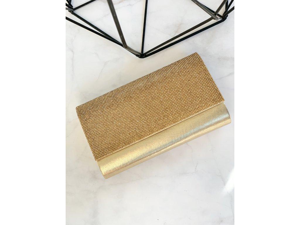 Zlatá kamienková kabelka