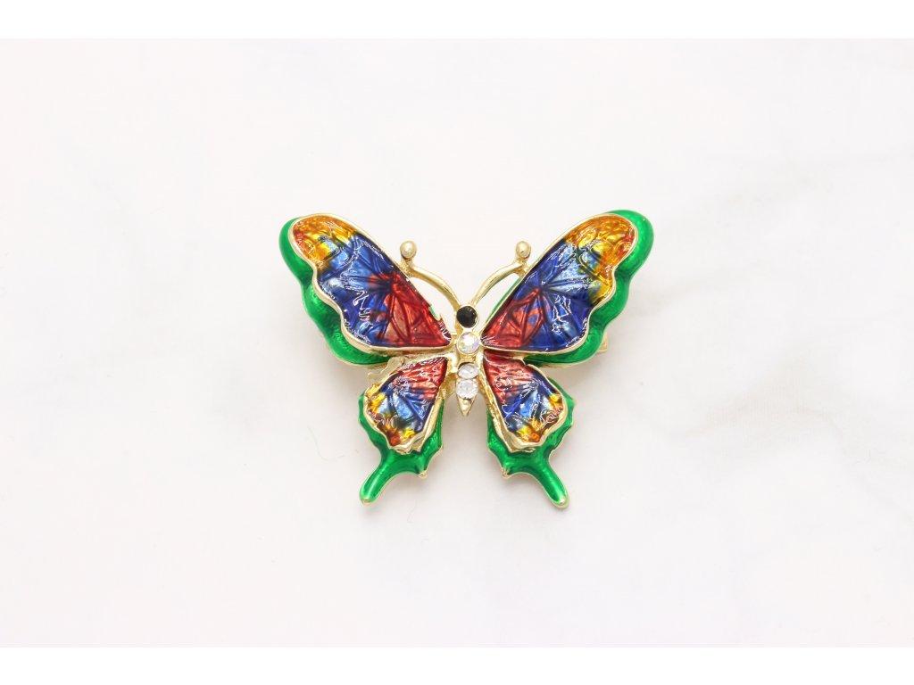 Brošňa farebný motýľ