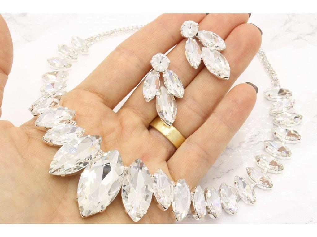 Náhrdelník Royal white stones