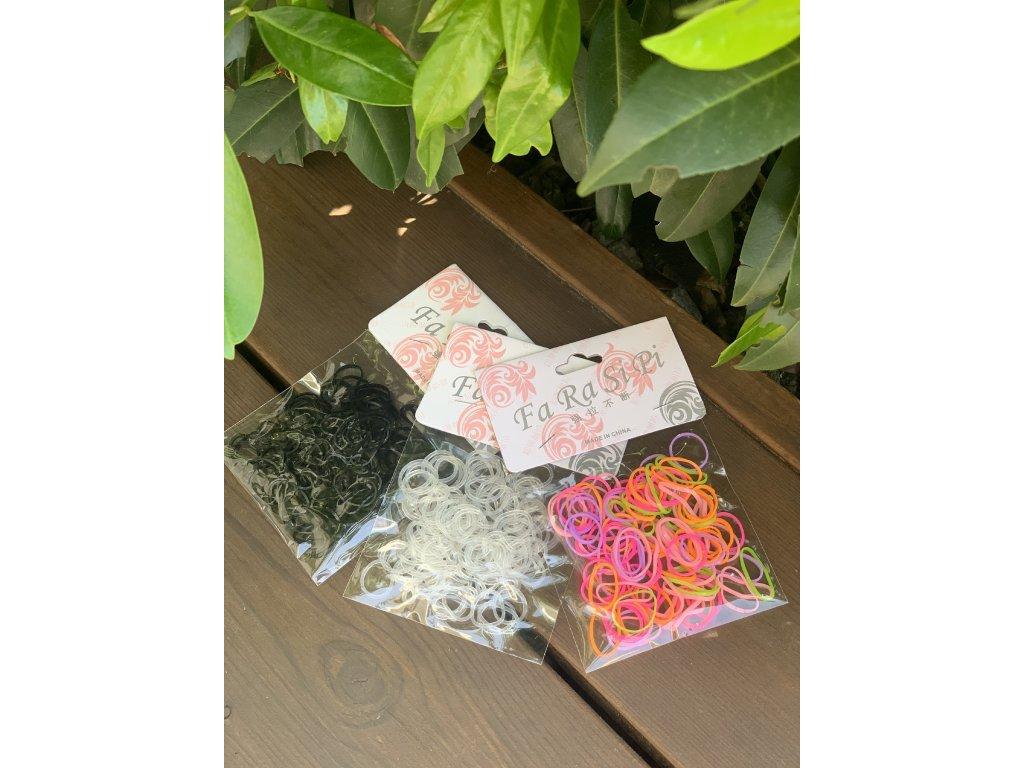 Farebné silikónové gumičky do vlasov