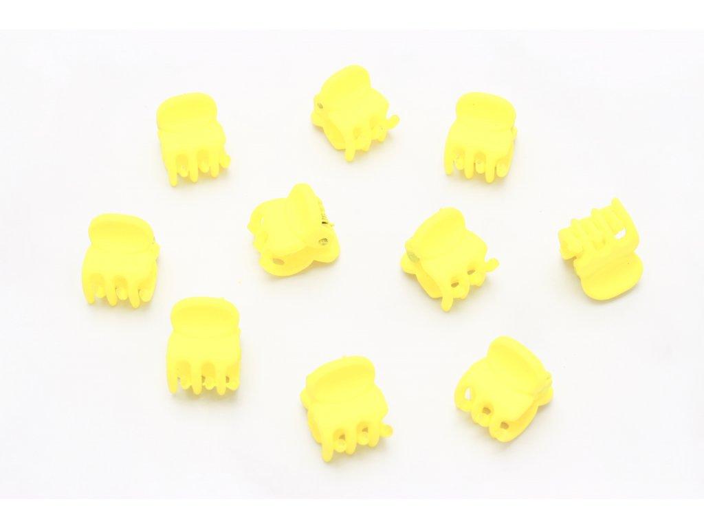 Set žltých štipcov 10 ks