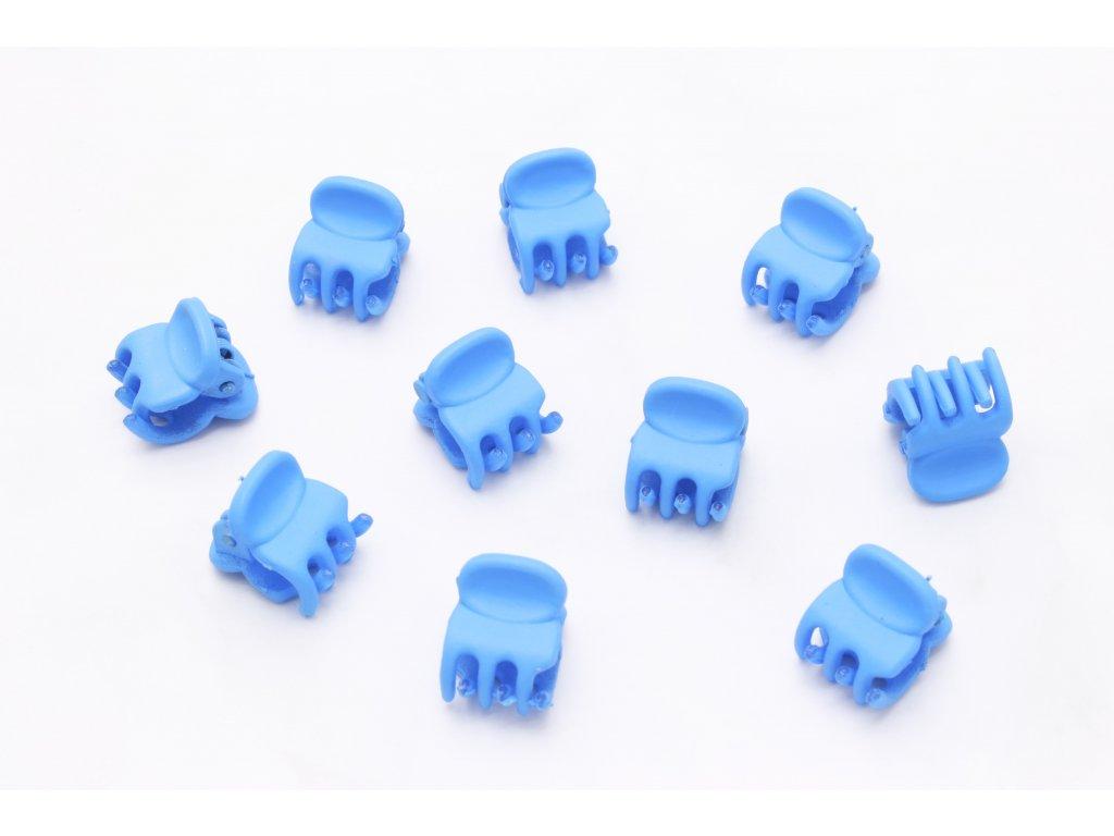 Set modrých štipcov 10 ks