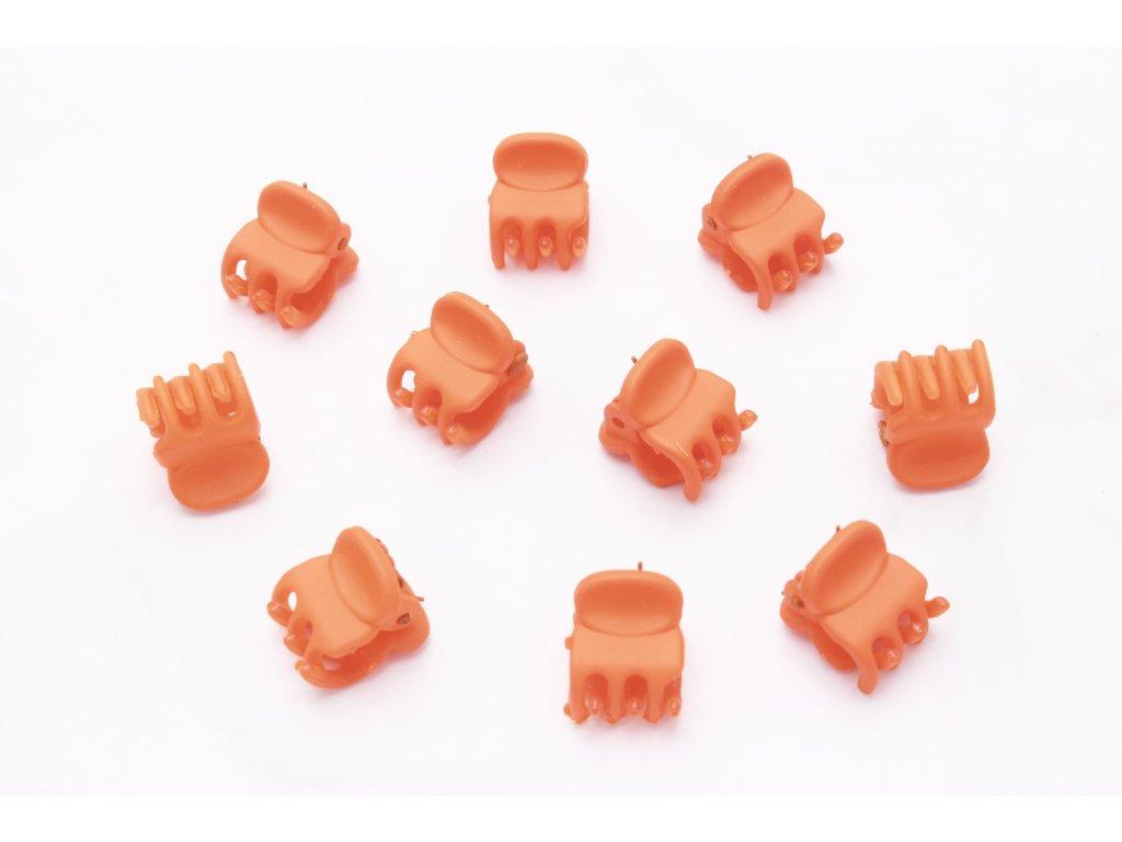 Set oranžových štipcov 10 ks