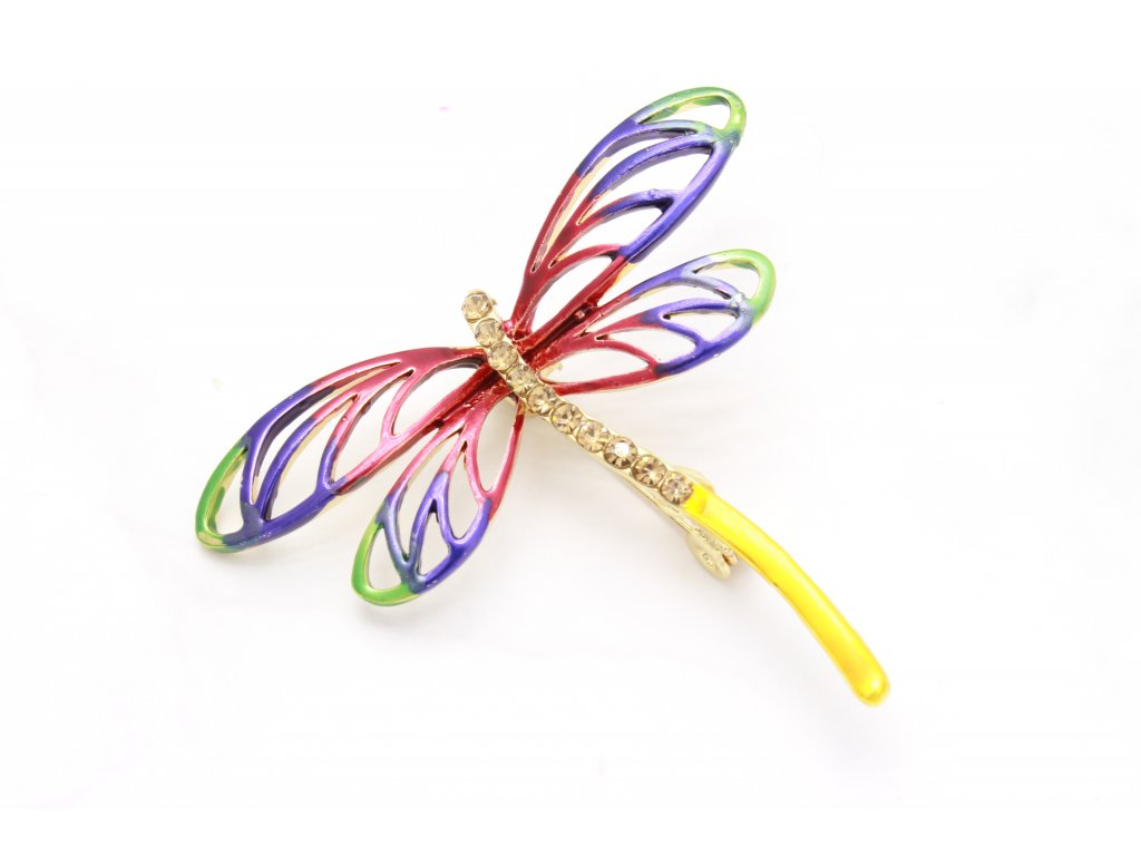 Brošňa farebná vážka