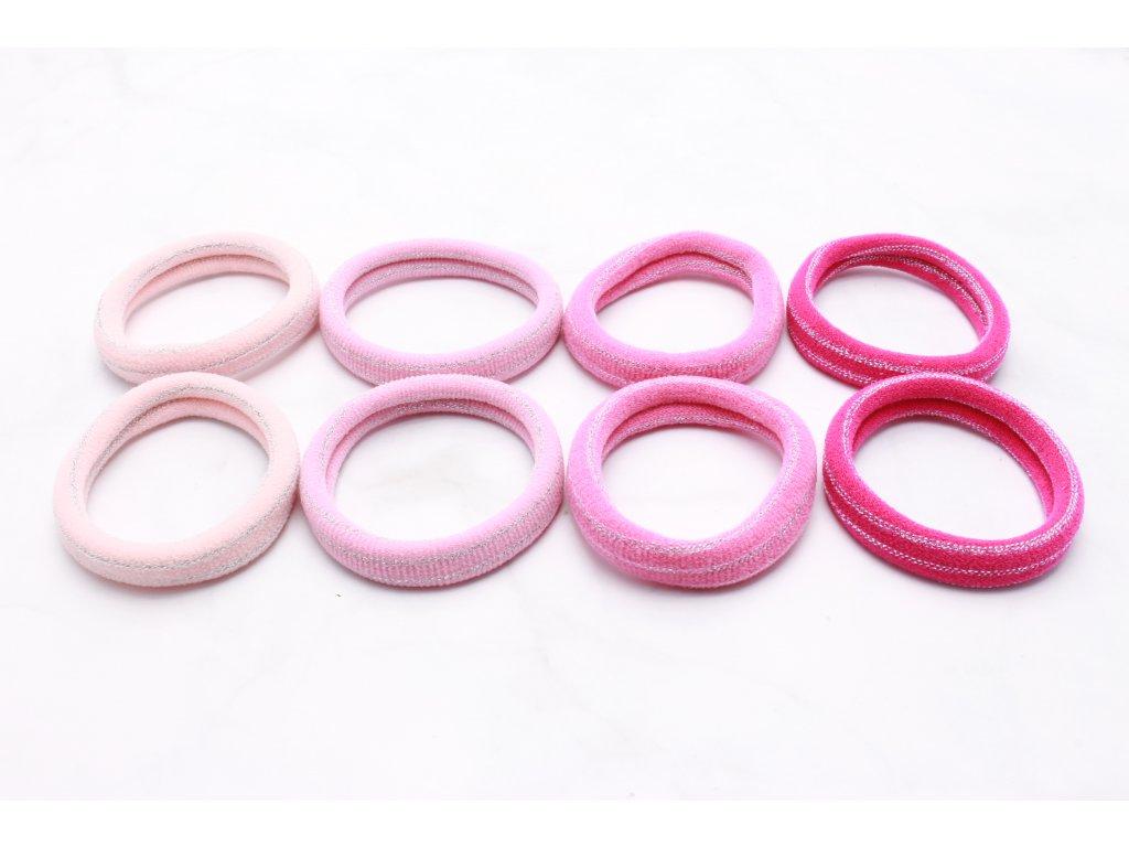 Sada ružových gumičiek