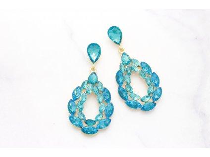 Kamienkové náušnice Elizabeth turquoise