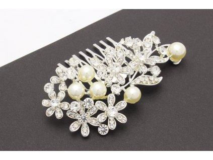 Hrebienok kvietočky s perlami