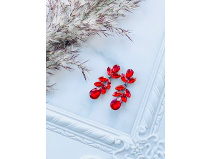 Kamienkové náušnice Bella Red