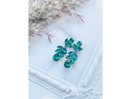 Kamienkové náušnice Bella Emerald Green