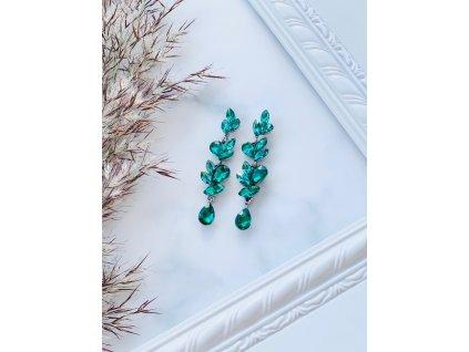 Kamienkové náušnice Cameron Emerald Green