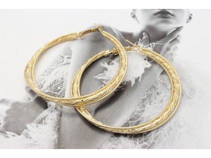 Zlaté vzorované kruhy 5 cm