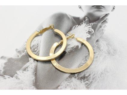 Zlaté náušnice kruhy 3,3 cm-antialergické