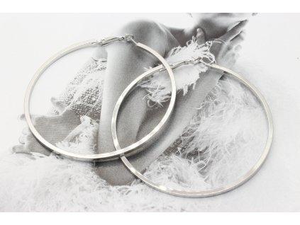 Strieborné náušnice kruhy 6,5 cm-antialergické