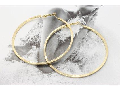 Zlaté náušnice kruhy 6,5 cm-antialergické