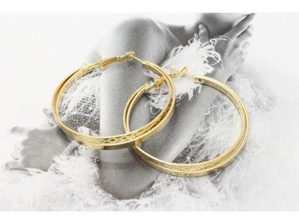 Zlaté dvojité kruhy 4,5 cm-antialergické