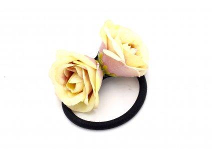 Gumička maslovo fialové dve ruže