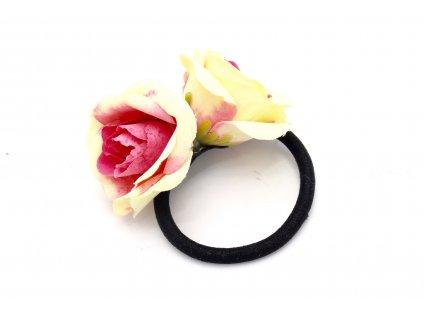 Gumička maslovo ružové dve ruže
