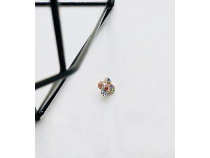 Mini brošňa farebné kamienky