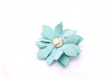 Tyrkysový kvet do vlasov