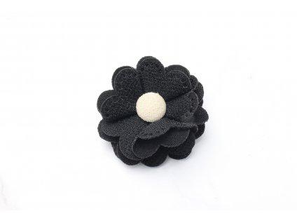 Čierny kvet do vlasov
