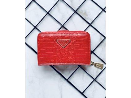 Lesklá červená peňaženka ESLEE