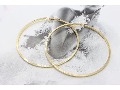 Maxi zlaté kruhy 7,5 cm-antialergické