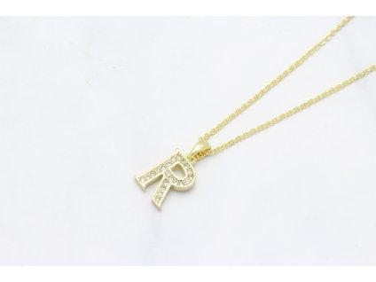 Retiazka s príveskom zlaté písmeno R