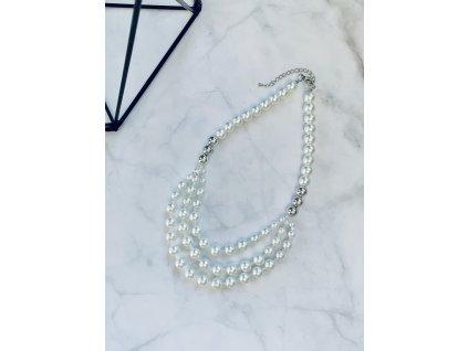 Perlový náhrdelník Thalia White