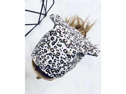 Bavlnená šatka hnedý leopard