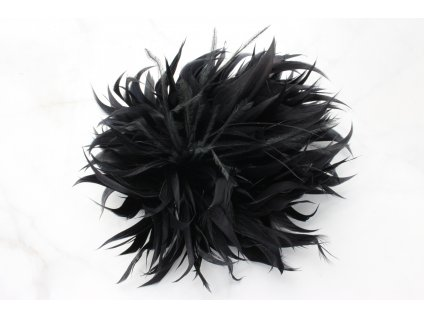 Čierny kvet do vlasov z pierok