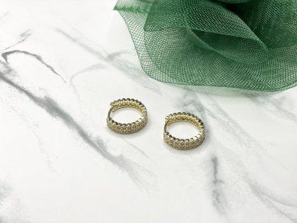 Exkluzívne pozlátené náušnice kruhy Malia Gold