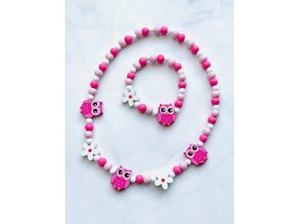 Detský náhrdelník s náramkom sovičky