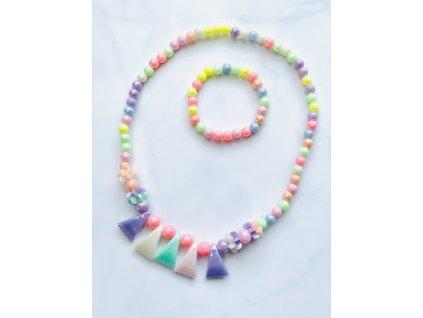 Detský farebný náhrdelník s náramkom