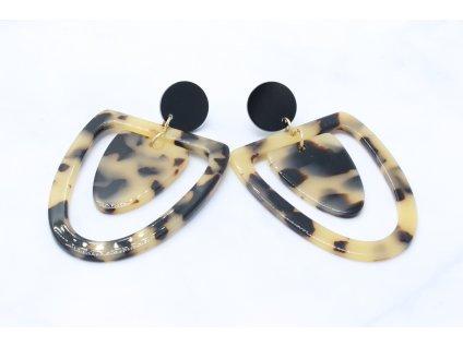 Plastové ľahučké náušnice svetlý leopard