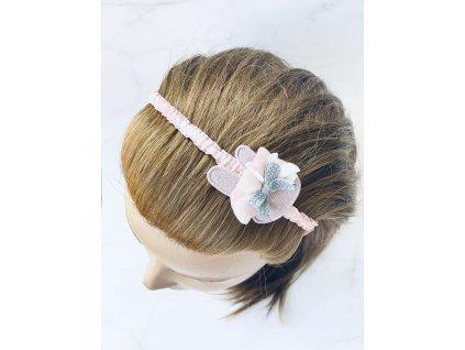 Ružová čelenka do vlasov - Zajko