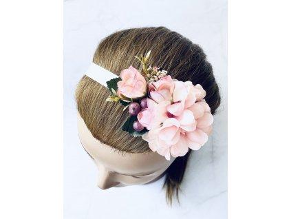 Elastická čelenka s marhuľovými kvetmi