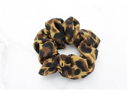 Scrunchie leopardí vzor